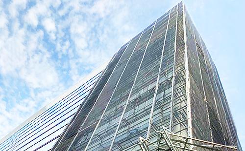 さいたま市 ビル大規模改修足場工事(1757㎡)