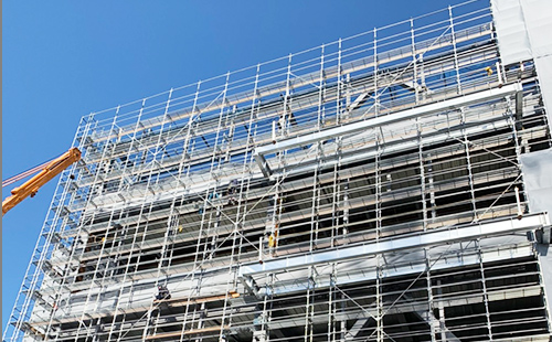 厚木市 物流施設大規模改修足場工事